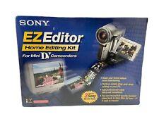 Sony EZ Editor MiniDV Home Video Editing Kit for PC Windows 98/Higher Software