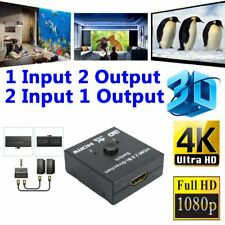 HDMI Switch-Techole Bidirectional HDMI Splitter 1 In 2 Out /2 Input 1 Output Hot