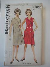 Butterick 2938 women A-line vintage dress sewing pattern size16 bust36in waist28