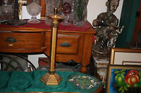 Vintage Religious Christianity Brass Metal Candlestick Holder-Tall-#3-Church