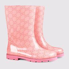 ea5b89949d49 NIB NEW Gucci boys girls GG rain boots blue pink brown 27 28 29 30 31