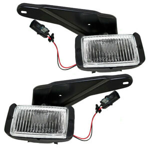 Pair Set Fog Lights Lamps & Housing SAE for 1988-1997 Chevrolet GMC Pickup Truck