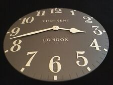 "Thomas Kent Arabic Wall Clock ""Dolphin Grey"", Dia 50cm -  NEW RRP £75.00"