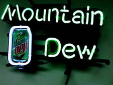 """New Mountain Dew Soda Beer Bar Party Light Lamp Wall Decor Neon Sign 17""""x14"""""""