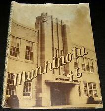 Gresham Union High School 1946 Autographed Yearbook Munhinotu Oregon * Gophers