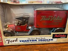 Ertl Ford 1918 Tractor Trailer-True Value Hardware-Bank-Limited Edition