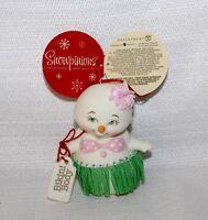 """Brand New 2018 Dept 56 Adorable Snowpinions """"BIKINI BODY"""" Ornament #6000912"""