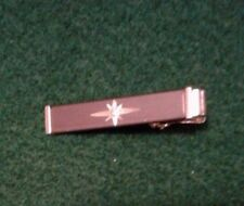 """ANSON TIE CLIP/BAR GRAY-SILVER WITH SMALL DIAMOND CHIP IN MIDDLE-1 1/2"""" LONG"""