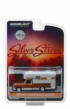 GREENLIGHT 1970 CHEVROLET C10 CHEYENNE 1/64 w SILVER STREAK CAMPER BROWN 30023