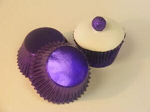 50 x Purple Foil Muffin / Cup Cake cases