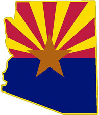 Arizona State Flag Vinyl Sticker Decal AZ outline silhouette Western L