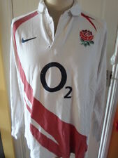 "2007 England Home Rugby Union long sleeve Shirt adult XL 45/47"" (20426)"