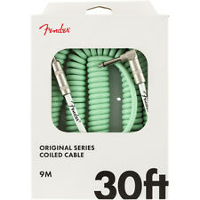 Fender Original Series Coil Guitar Bass Cable, Straight-Angle, 30', Surf Green
