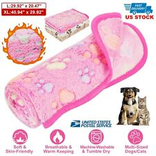 Puppy Blanket Cushion Small Dog Cat Bed Soft Warm Sleep Mat for Pet Us Stock