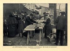 Kinderspielzeug Bewegliche Hampelmänner u. Gliederpuppen Marktstand v.1900