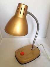 Retro vintage, Goose neck Gold coloured,Desk Lamp, working 60s 70s