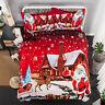 Christmas Duvet Cover Set Pillowcase Cartoon Kids Bedding Comforter Cover Lovely