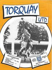 Football Programme>TORQUAY UNITED v NOTTS COUNTY Sept 1979 FLC