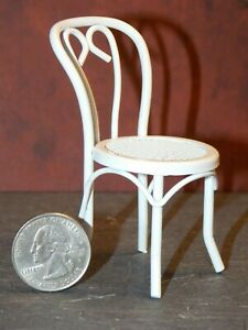 Dollhouse Miniature Chair White Metal 1:12 one inch scale E12 Dollys Gallery