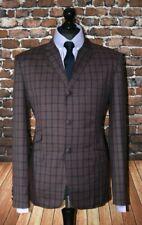 Mod Suit Grey & Red Check Suit 3 Button Slim Fitting Suit 1960's 3 button