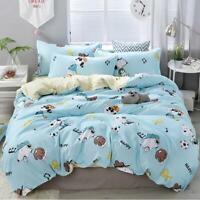 3D White Puppy ZHUA3706 Bed Pillowcases Quilt Duvet Cover Set Queen King Zoe