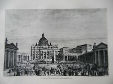 72 Views of Rome, Line  Engravings from Rome by Francis Wey c1875