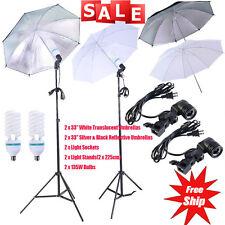 "4 x 33"" Photo Studio Lighting Umbrella Camera Video Photography Light Lamp Kit V"