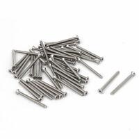 M 2 x 25 mm acero inoxidable tornillos de cabeza plana avellanado 50 piezas