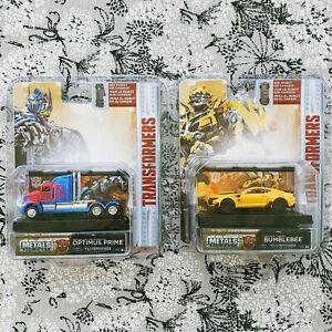 Jada OPTIMUS PRIME and BUMBLEBEE Hollywood Rides Transformers 1/64 Diecast