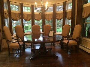 """Beautiful solid wood custom-made 72"""" round dining table!"""