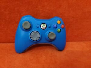 Genuine Limited Edition Rare Blue Xbox 360 Controller - Tested & Working