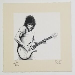 RONNIE WOOD Original Serigraph, Limited Edition, Signed, Rock and Roll