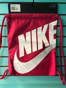 NEW Nike Swoosh Drawstring Bright Pink  Athletic/Gym Bag - w/outside Pocket