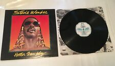 STEVIE WONDER - HOTTER THAN JULY LP VINYL EX/EX 1980 Motown Album Gatefold Inner