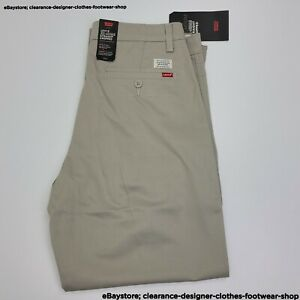 Levis XX Chino Straight Fit Cropped Leg Mens Beige Sandhill Trousers RRP £75