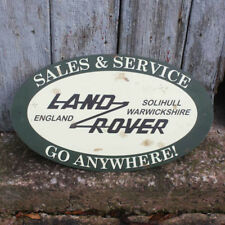 Vintage Garage Sign Land Rover Sales & Service, Old Advert, Land Rover Sign