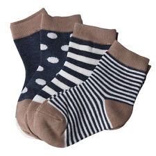 4 Pairs Newborn Baby Boy Girl Cartoon Cotton Socks Infant Toddler Kids Sock