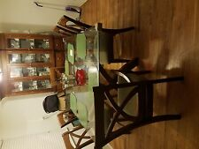 a dining room table w/6 chairs and china cabinet(china not included)
