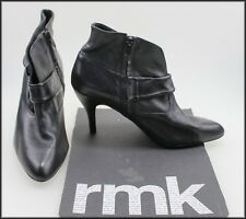 RMK WOMEN'S  HIGH HEELS ANKLE HIGH ZIP-UP FASHION BOOTS SIZE 8.5