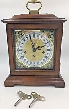 Howard Miller Mantle Mantel Chime Clock 340-020 Germany Works with Key 2 Jewel