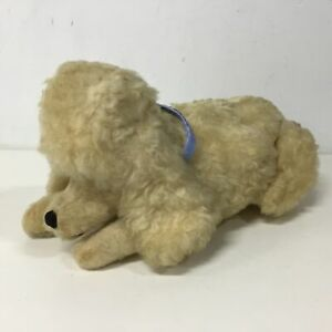 Vintage Pure New Wool Poodle Toy Dog With Zippered Stomach 43cm #454