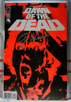 SIGNED! DAWN OF THE DEAD #1 GEORGE ROMERO night day LAND walking twd IDW 2004