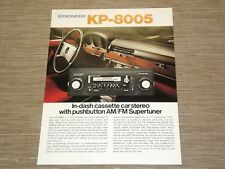 Pioneer KP-8005 Car Stereo  Cassette tape with FM radio  Original Catalogue