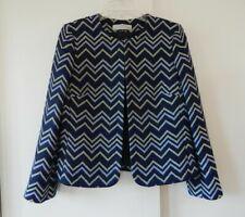 womens multi color TAHARI ARTHUR LEVINE jacket blazer chevron stripe medium 10