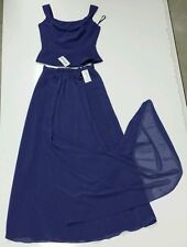 IMPRESSION Formal Long Gown. 3 piece.  Amethyst. Size 12. NWT.
