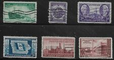 US Scott #939-44, Singles 1946 Complete Set FVF Used