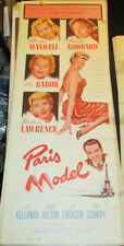 PARIS MODEL! '53 P.GODDARD, E.GABOR ORIGINAL BAD GIRL RARE INSERT FILM POSTER!