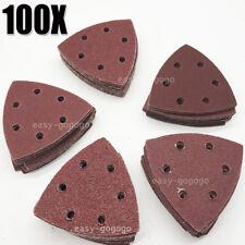 100x Schleifdreiecke Dreieck Schleifscheiben Schleifpapier f. Deltaschleifer NEU