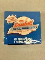 1987 Fleer Baseball Card Classic Miniatures Mini Factory Sealed Set 120 Cards