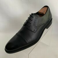 Stacy Adams Oxford Cap Toe Brogue Black Leather Lace Up Shoes Size 11M